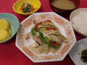9月1日 鶏もも肉とエリンギ茸の柚子胡椒炒め.JPG