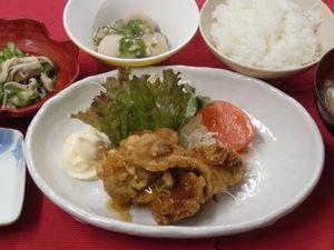 9月15日鶏から揚げ香味ソース.JPG