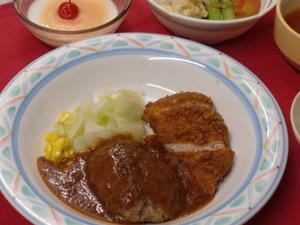 9月6日 チキンカツとミニハンバーグ.JPG