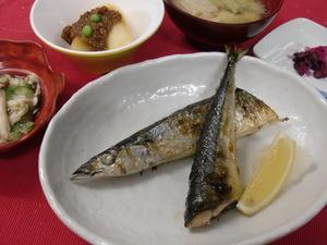 12月4日秋刀魚の塩焼き.JPG
