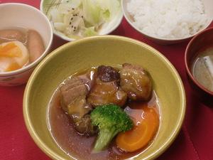 6月25日豚肉のはちみつ煮.JPG