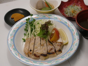7月31日豚肉の生姜味噌焼き.JPG