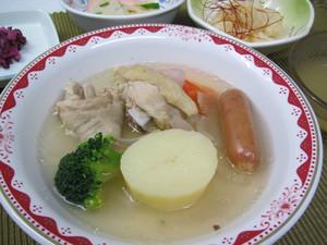 10月7日ガーリックチキンと野菜のポトフ.JPG