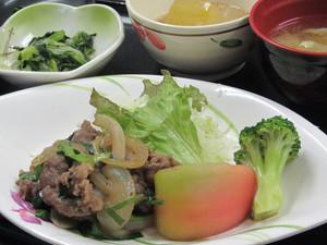 10月28日牛肉スタミナ焼き.JPG