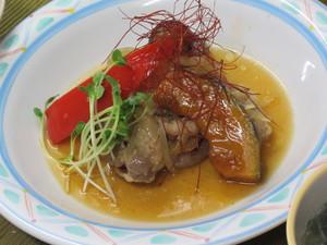 10月30日豚肉と南瓜の南蛮漬け風.JPG
