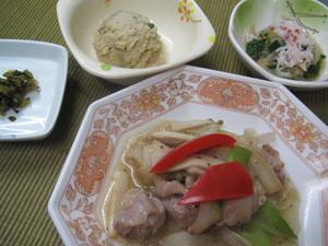 4月11日エリンギと鶏の柚子胡椒炒め.JPG