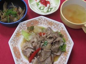 5月23日豚肉の黒酢炒め.JPG