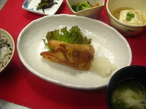 9月9日赤魚西京漬け焼き.JPG