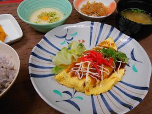 12月24日茸とベーコンの玉子包み焼き.JPG
