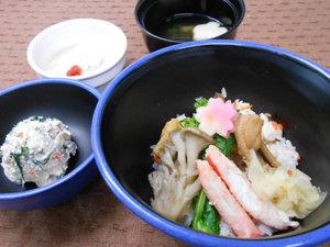 11月25日カニと穴子の蒸し寿司.JPG