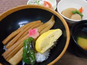 2月12日柔らか穴子とだし巻き玉子の丼ぶり.JPG