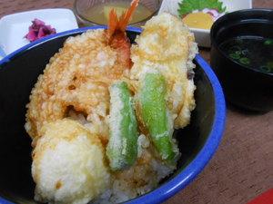 2月28日金目鯛と半熟卵の天丼.JPG