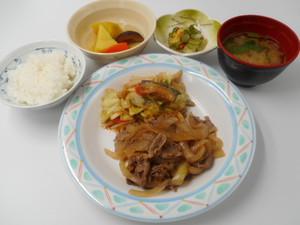 12月19日 彩り野菜と牛肉の和風焼肉.JPG