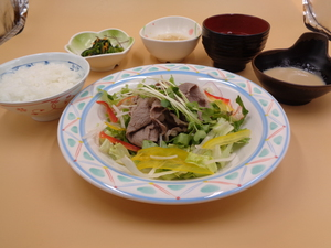 4月28日 牛肉のしゃぶしゃぶサラダ仕立て.JPG