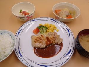 7月11日 若鶏のグリル粒マスタードソース.JPG