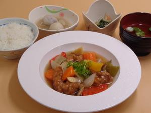 7月5日 彩り柔らか酢鶏.JPG