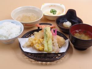 8月15日 海老と夏野菜の天ぷら.JPG