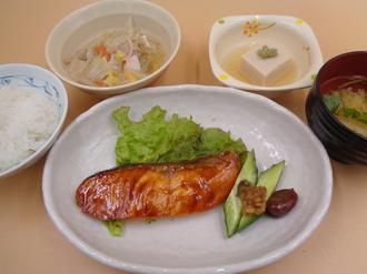 1月25日 紅鮭の照り焼き.JPG