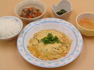1月26日 野菜たっぷりかに玉.JPG
