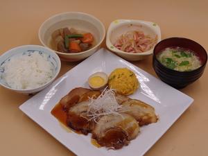 7月12日手作り焼き豚と南瓜サラダ.JPG