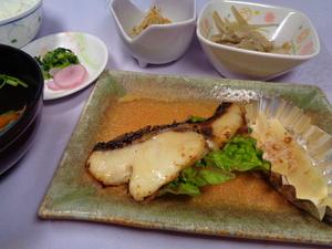 黒ムツの西京焼きと筍の土佐煮.JPG