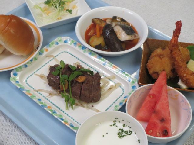 8月6日夕食特別食夏の元気御膳.jpg